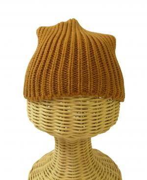 No.4 ニットキャップ 帽子 エンポリオアルマーニ Mサイズ(ライトブラウン)