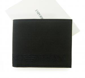 エンポリオアルマーニ 財布 メンズ  二つ折(ブラック)