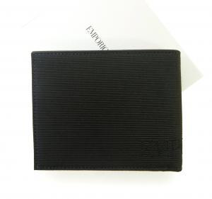 No.2 財布 メンズ エンポリオアルマーニ 二つ折(ブラック)