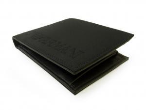 No.3 財布 メンズ エンポリオアルマーニ 二つ折(ブラック)