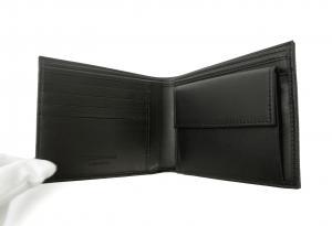 No.5 財布 メンズ エンポリオアルマーニ 二つ折(ブラック)