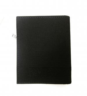No.2 財布 札入れ&カードケース エンポリオアルマーニ 二つ折(ブラック)