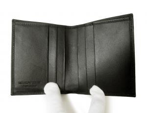 No.6 財布 札入れ&カードケース エンポリオアルマーニ 二つ折(ブラック)