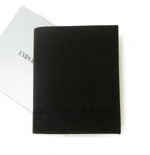 No.9 財布 札入れ&カードケース エンポリオアルマーニ 二つ折(ブラック)