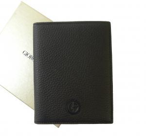 ジョルジオアルマーニ パスポートケース  (ブラック)