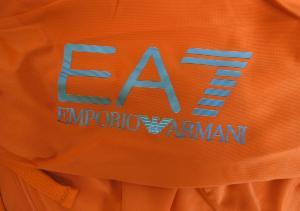 No.3 フード ジャージ トラックスーツ オレンジ Mサイズ エンポリオアルマーニ EA7