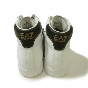 No.4  <訳あり・アウトレット>ハイカット レザー スニーカー メンズ EA7 エンポリオアルマーニ 7サイズ(日本サイズ約25cm)