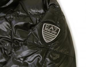 No.4 ジャケット 中綿 フード Mサイズ (ブラック)エンポリオアルマーニ EA7