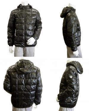 No.6 ジャケット 中綿  ダウン フード Mサイズ (ブラック)エンポリオアルマーニ EA7