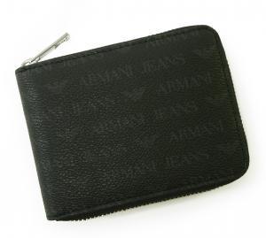 No.7 ジーンズ 財布 メンズ ラウンドファスナー (ブラック)
