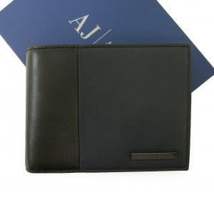 アルマーニジーンズ  財布 三つ開き メッシュ ポケット付き バイカラー