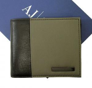 アルマーニ 財布 メンズ ジーンズ 財布 札入れ メンズ 二つ折り バイカラー*小銭入れなし
