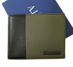 アルマーニジーンズ  財布 メンズ 二つ折り バイカラー レザー