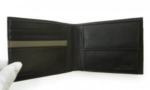 No.4 ジーンズ 財布 メンズ 二つ折り バイカラー レザー
