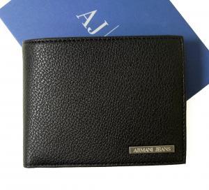 アルマーニ ジーンズ 財布 メンズ 二つ折り (ブラック) MainPhoto