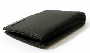 No.3 ジーンズ 財布 メンズ 二つ折り (ブラック)