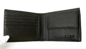No.4 ジーンズ 財布 メンズ 二つ折り (ブラック)