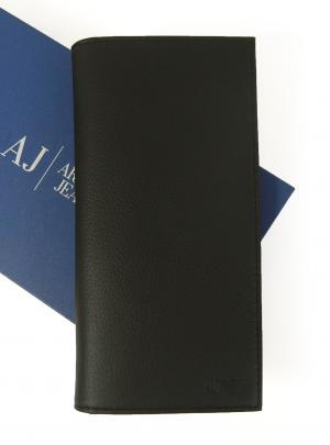 アルマーニジーンズ  長財布 メンズ 二つ折り (ブラック)