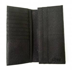 No.4 ジーンズ 長財布 メンズ 二つ折り (ブラック)