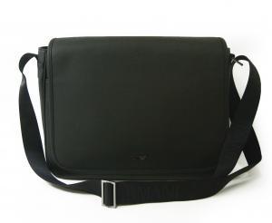 アルマーニジーンズ  メッセンジャーバッグ フラップショルダー ブラック メンズ