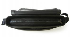 No.9 ジーンズ メッセンジャーバッグ フラップショルダー ブラック メンズ