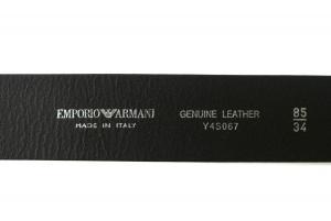 No.5 ベルト (ブラック) 長さ調整不可 牛革 95cm エンポリオアルマーニ