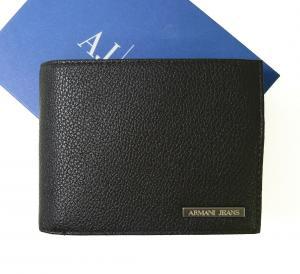 アルマーニジーンズ 財布 メンズ   三つ開き メッシュ ポケット 付き