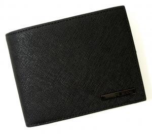 No.6 ジーンズ 財布 メンズ 二つ折り (ブラック)
