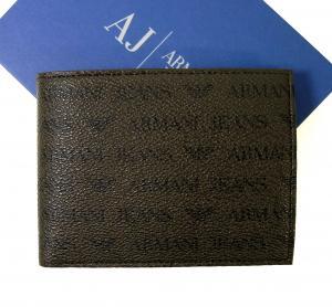 アルマーニジーンズ  財布 メンズ 二つ折り (マロン)