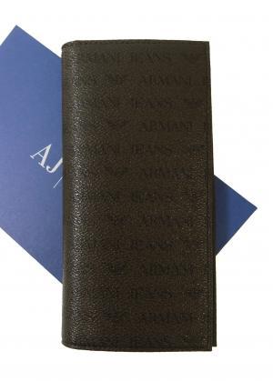 アルマーニジーンズ 財布 メンズ  長財布 二つ折(マロン)