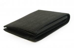No.3 財布 メンズ ジーンズ 三つ開き メッシュポケット付き (ブラック)