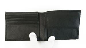 No.4 財布 メンズ ジーンズ 三つ開き メッシュポケット付き (ブラック)
