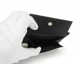 No.6 財布 メンズ ジーンズ 三つ開き メッシュポケット付き (ブラック)