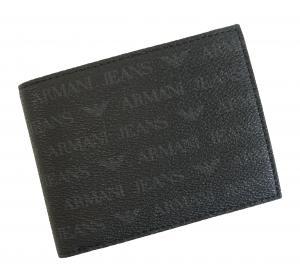 No.8 財布 メンズ ジーンズ 三つ開き メッシュポケット付き (ブラック)