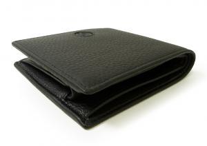 No.3 財布 ジョルジオアルマーニ 二つ折 メンズ (ブラック)