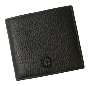 No.8 財布 ジョルジオアルマーニ 二つ折 メンズ (ブラック)