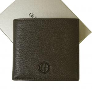 ジョルジオアルマーニ 財布  二つ折 メンズ (ダークブラウン)