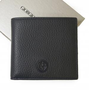 ジョルジオアルマーニ 財布  二つ折 (ミッドナイトブルー)