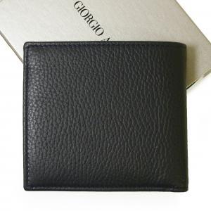 No.2 財布 ジョルジオアルマーニ 二つ折 (ミッドナイトブルー)