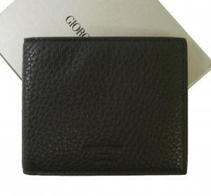 ジョルジオアルマーニ 財布 札入れ  二つ折 (ブラック) *小銭入れなし