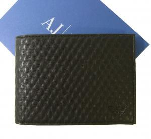 アルマーニジーンズ  財布 札入れ 二つ折 (ブルーグラファイト) *小銭入れなし