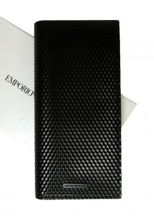 アルマーニ メンズ 長財布 エンポリオアルマーニ 二つ折(ブラック)