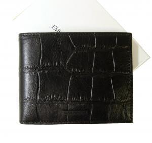 エンポリオアルマーニ 財布 メンズ 札入れ  二つ折 (ブラック) *小銭入れなし