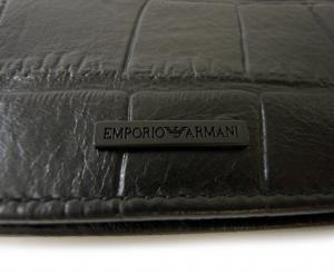 No.4 財布 メンズ 札入れ エンポリオアルマーニ 二つ折 (ブラック) *小銭入れなし
