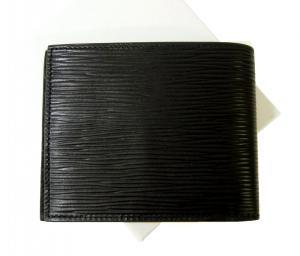 No.2 財布 メンズ  札入れ エンポリオアルマーニ 二つ折 (ブラック) *小銭入れなし