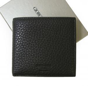 ジョルジオアルマーニ 財布  二つ折 メンズ (ブラック)