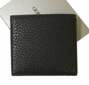 No.2 財布 ジョルジオアルマーニ 二つ折 メンズ (ブラック)
