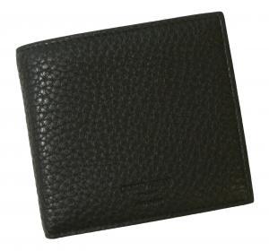 No.7 財布 ジョルジオアルマーニ 二つ折 メンズ (ブラック)