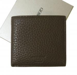ジョルジオアルマーニ 財布  二つ折 メンズ (ダークタン)