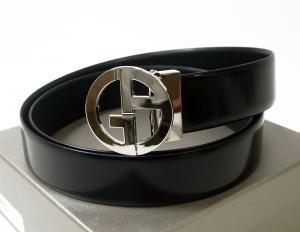 new product 0a177 f2785 アルマーニ ] ベルト リバーシブル (ブラック/ブラック ...